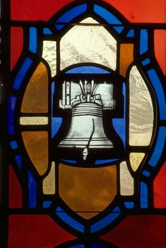 Liberty Bell in stained glass
